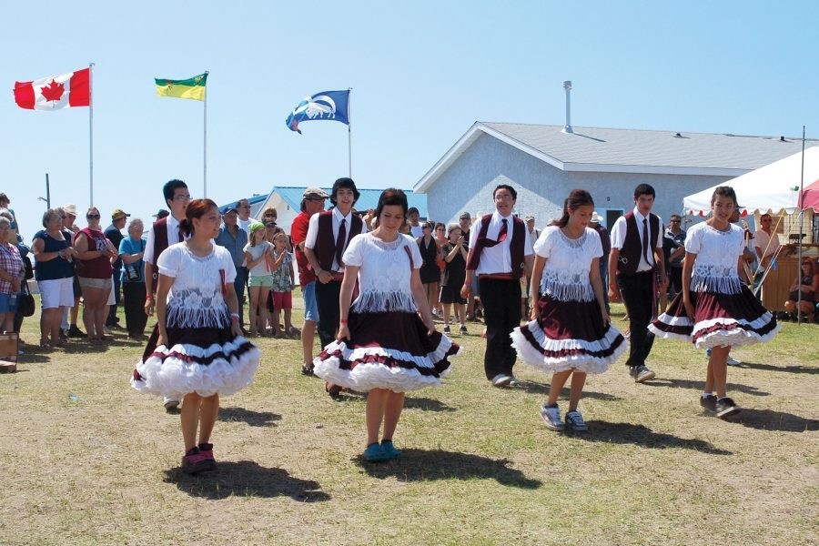 Dancers at the annual Back to Batoche celebration.
