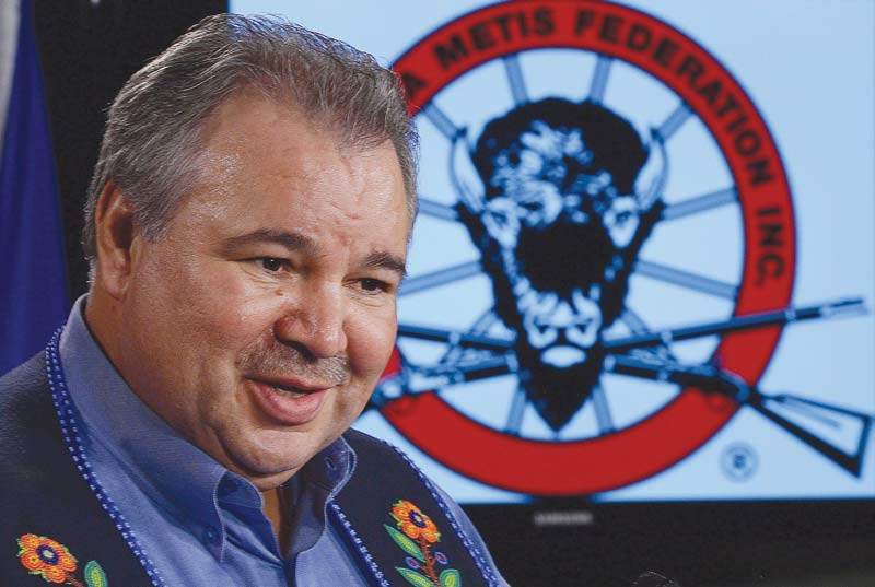 David Chartrand, President of the Manitoba Metis Federation.