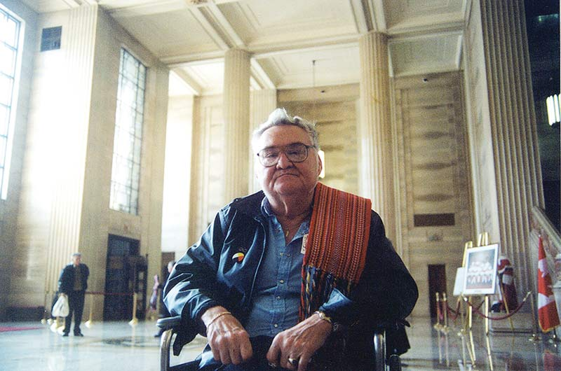 Steve Powley at the Supreme Court of Canada in September 2003.