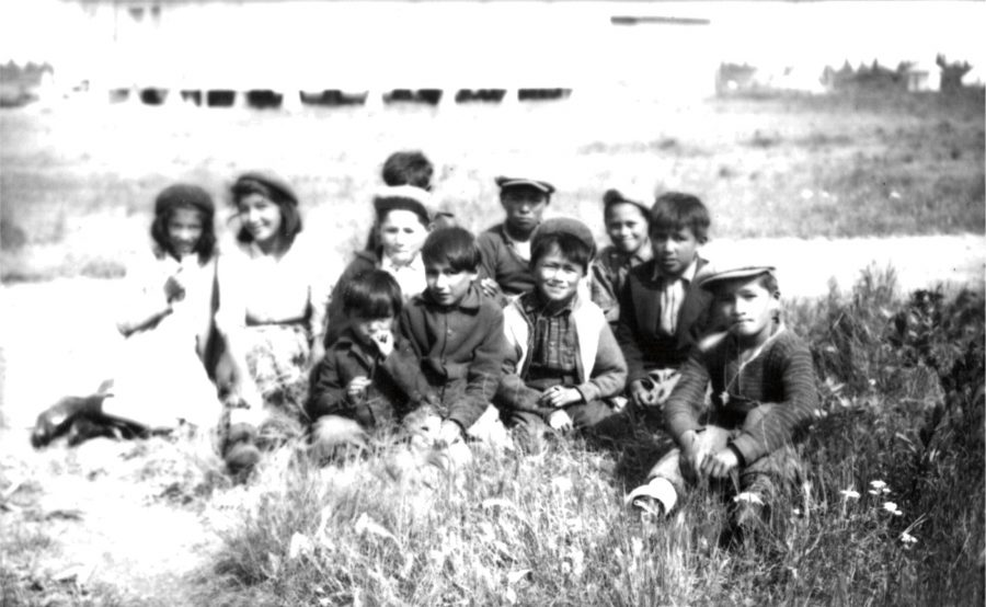 An unidentified photo from the school archives