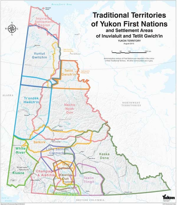 A ma[ detailing the traditional territories of the First Nations