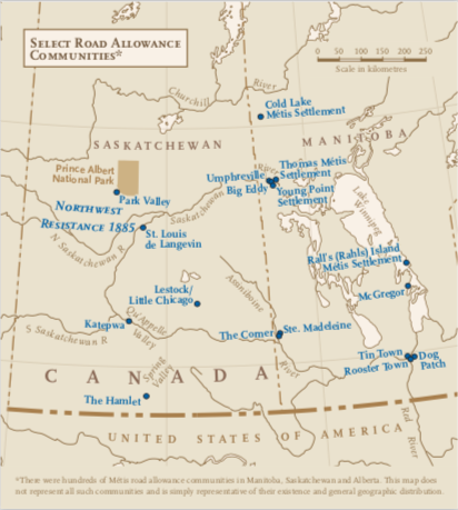 Map of central canada